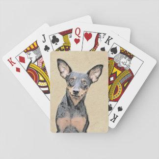 Pinscher miniature jeu de cartes