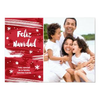 Pintado Feliz Navidad Carton D'invitation 12,7 Cm X 17,78 Cm