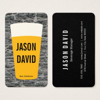 Pinte de bière | rustique (variation) cartes de visite