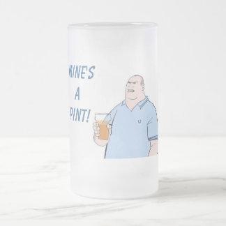 pinte de la mine par mug en verre givré