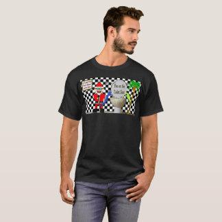 Pipi de Père Noël Klaus sur le T-shirt de siège