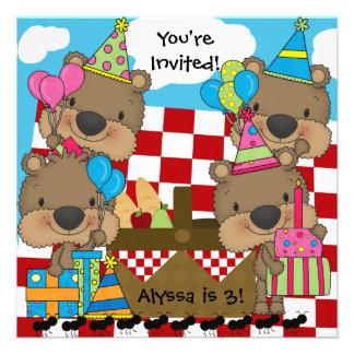 Pique-nique avec l'invitation d'anniversaire de no