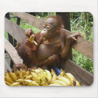 Pique-nique de la banane du bébé tapis de souris
