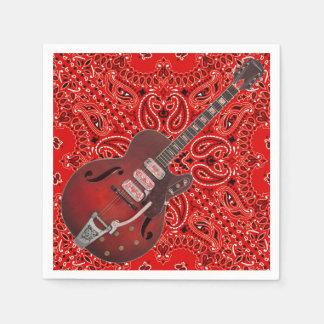 Pique-nique Paisley de BBQ de musique country de Serviette En Papier