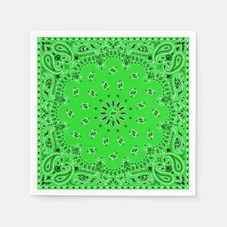 Pique-nique vert de BBQ d'écharpe de Bandana de Serviette Jetable