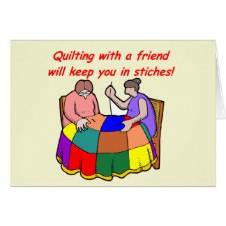 Piquer avec un ami cartes de vœux