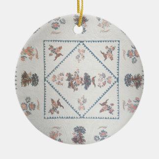"""Piquez dans la """"broderie Perse"""", c.1800 (appliqué, Ornement Rond En Céramique"""