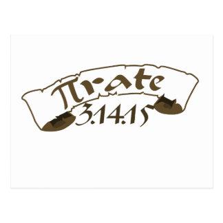 Pirate 2015 de jour de pi carte postale