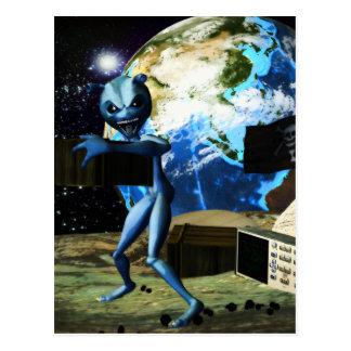 Pirate d'alien de ravitailleur carte postale