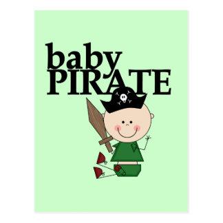 Pirate de bébé avec l'épée - T-shirts et cadeaux d Carte Postale
