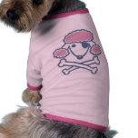 Pirate de caniche t-shirt pour chien
