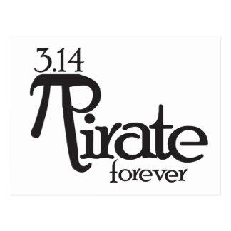 Pirate de maths pour le jour de pi cartes postales