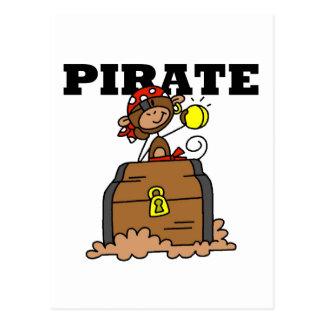 Pirate de singe avec des T-shirts et des cadeaux Carte Postale