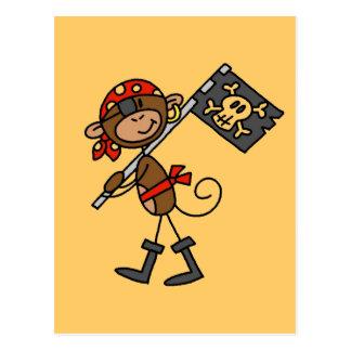 Pirate de singe avec des T-shirts et des cadeaux Cartes Postales