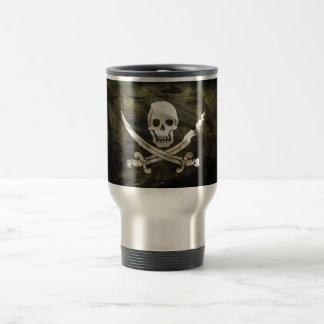 Pirate de Tête de mort Mug De Voyage En Acier Inoxydable