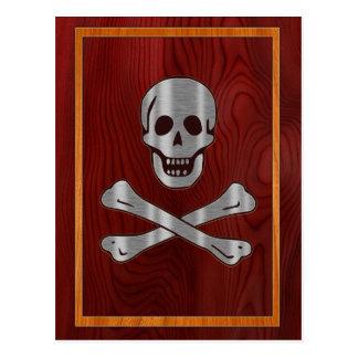 Pirate en bois en métal carte postale