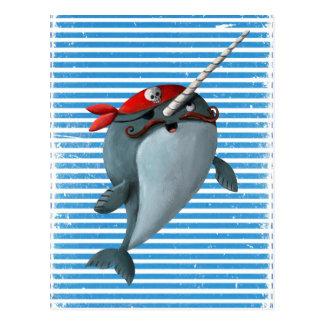 Pirate mignon Narwhal Carte Postale