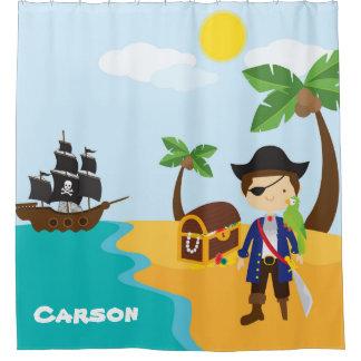 Pirate personnalisé orienté, rideau en douche du