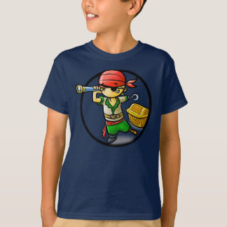 Pirate - T-shirt d'obscurité d'enfants