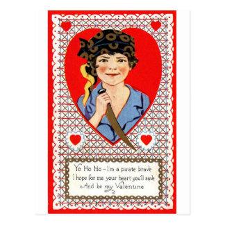 Pirate Valentine Cartes Postales