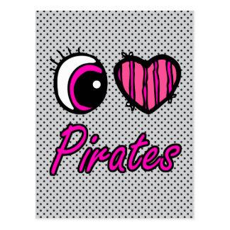 Pirates d'amour du coeur I d'oeil d'Emo Cartes Postales