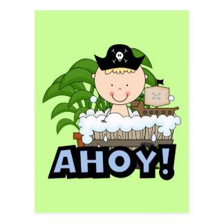 Pirates de baignoire - T-shirts et cadeaux blonds Cartes Postales