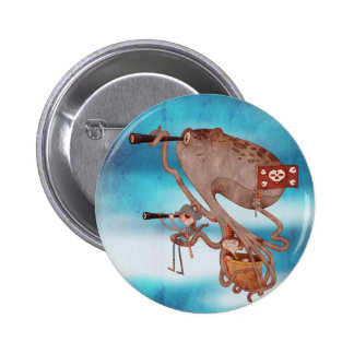 Pirates. Imagination and fantasy, cute and lovely. Badge Rond 5 Cm