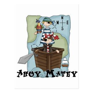 Pirates oh Tshirs et cadeaux Carte Postale