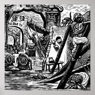 Pirates squelettiques circa 1951 posters