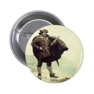 Pirates vintages, capitaine Bill Bones par OR Badge Rond 5 Cm