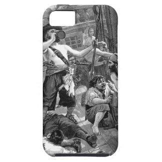 Pirates vintages combattant et buvant sur le coque Case-Mate iPhone 5
