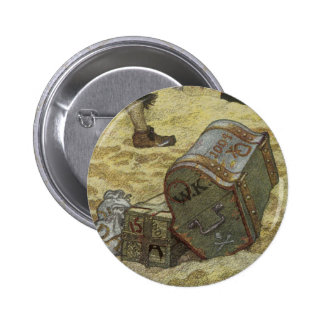 Pirates vintages, William Kidd enterrant le trésor Badges