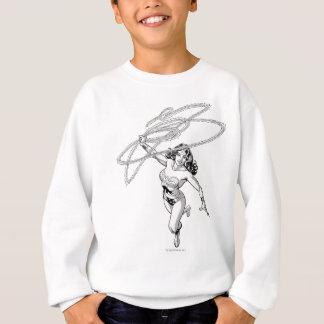 Pirouette noire et blanche de femme de merveille sweatshirt