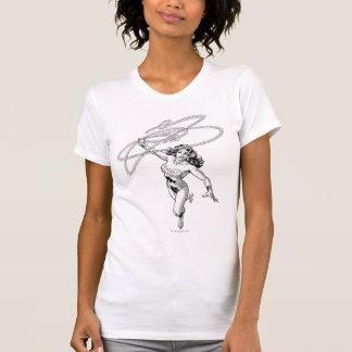 Pirouette noire et blanche de femme de merveille t-shirt