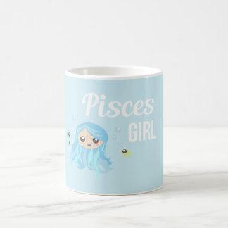 Pisces Girl Mug Blanc