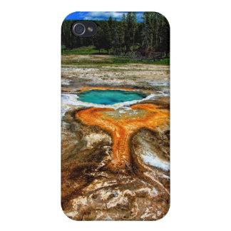 Piscine de courant ascendant de Yellowstone Étuis iPhone 4