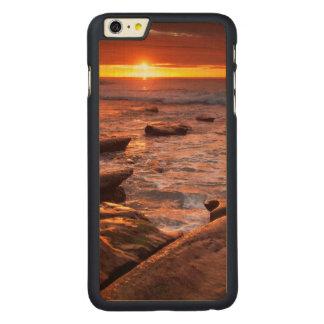 Piscines de marée au coucher du soleil, la coque en érable iPhone 6 plus