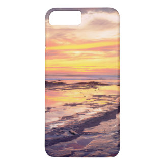 Piscines de marée de falaises de coucher du soleil coque iPhone 7 plus