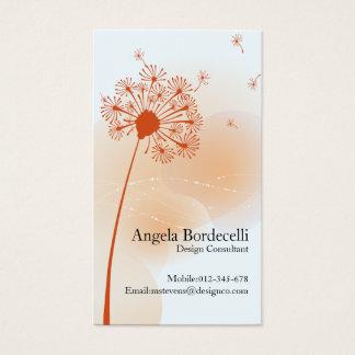 Pissenlit doux de carte de visite floral