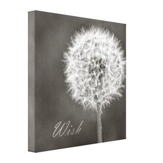 Pissenlit inspiré de souhait impressions sur toile