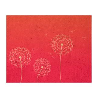 Pissenlit rose au printemps papier en liège