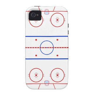 Piste d hockey iPhone 4 case
