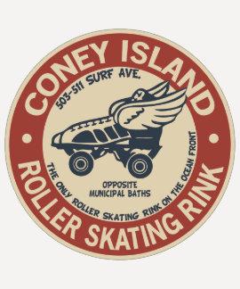 Piste vintage de rouleau de Coney Island T-shirts