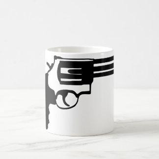 Pistolet magnum 38 spécail mug blanc