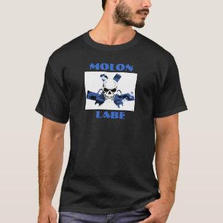 Pistolets et crâne foncés de Molon Labe du T-shirt