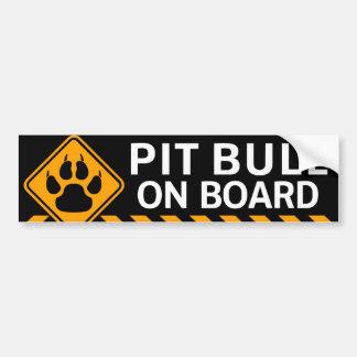 Pitbull à bord autocollant pour voiture