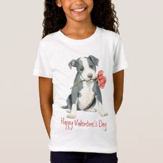 Pitbull rose de Valentine T-Shirt