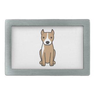 Pitbull Terrier américain (oreilles cultivées) Boucle De Ceinture Rectangulaire