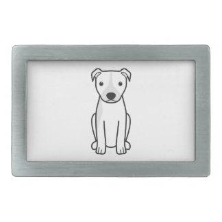 Pitbull Terrier américain (oreilles naturelles) Boucles De Ceinture Rectangulaires