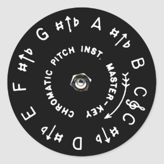 Pitchpipe Sticker Rond